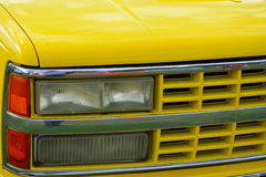 Yellow Front of car Royalty Free Stock Image
