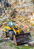 Yellow front end loader machine Royalty Free Stock Image