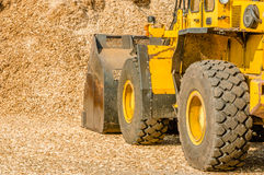 Yellow front loader Stock Photos