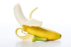 Yellow fruit of fresh banana Royalty Free Stock Photography