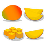Yellow fruit mango Royalty Free Stock Photos