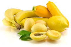 Yellow fruits Stock Photos