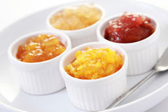 Yellow fruits jam Stock Photo