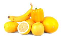 Yellow fruits and vegetables Stock Photography