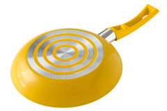 Yellow frying pan Royalty Free Stock Photos