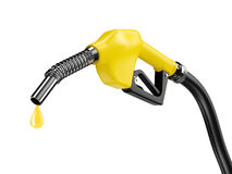 Yellow fuel pump nozzle Royalty Free Stock Photography