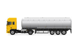 Yellow Fuel Tanker Truck Stock Images