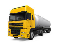 Yellow Fuel Tanker Truck Royalty Free Stock Photos