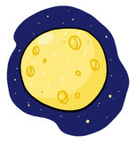 Yellow full moon illustration Royalty Free Stock Photo