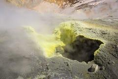 Free Yellow Fumarole Inside Mutnovsky Volcano Crater Royalty Free Stock Photo - 76087395