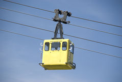 Yellow funicular Royalty Free Stock Photography
