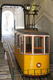 Yellow funicular in Lisbon Royalty Free Stock Image