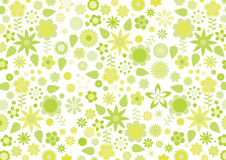 Free Yellow Funky Flowers And Leaves Retro Pattern Stock Image - 17693141
