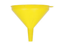 Yellow funnel stock photography