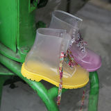 Yellow funny boots Royalty Free Stock Photo