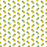 Yellow funny cartoon fruit pear seamless pattern Stock Images