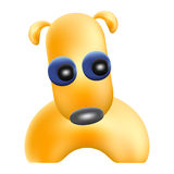 Yellow funny dog mascot Stock Images