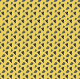 Yellow funny vector seamless pattern with sunflower seeds stock illustration