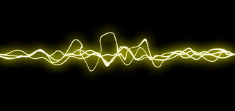 Yellow fx lines royalty free stock photo