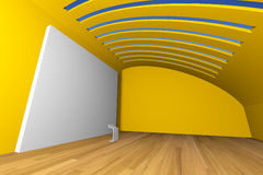 Yellow gallery Stock Image