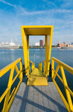 Yellow gangway Royalty Free Stock Image