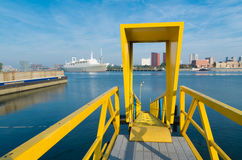 Yellow gangway Royalty Free Stock Photography