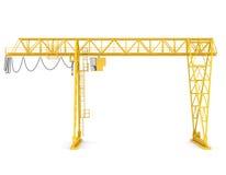 Yellow gantry bridge crane Royalty Free Stock Image
