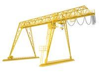 Yellow gantry bridge crane, half-turn Stock Photography