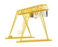 Yellow gantry bridge crane, half-turn Royalty Free Stock Image