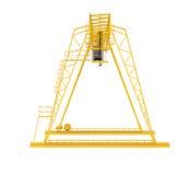 Yellow gantry bridge crane Stock Photography