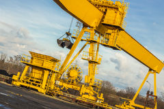 Yellow gantry crane - Poland. Stock Photography