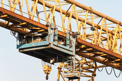 Yellow gantry crane with winch Stock Photography