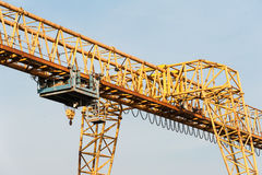 Yellow gantry crane with winch Royalty Free Stock Photo
