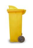 Yellow garbage bin Stock Image
