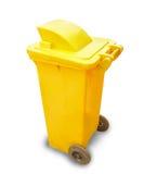 Yellow garbage bin Royalty Free Stock Image