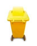 Yellow garbage bin Stock Photos