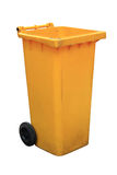 Yellow garbage bins Royalty Free Stock Images