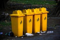 Yellow garbage bins Stock Image