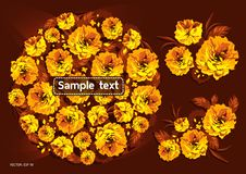 Yellow garden flowers royalty free illustration