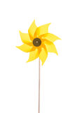 Yellow garden windmill isolated over white background. Royalty Free Stock Photography