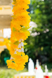 Yellow garland Royalty Free Stock Images