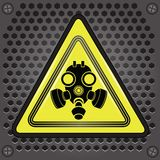 Yellow gas mask sign Stock Photography