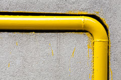 Yellow gas pipe Stock Images