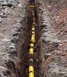 Yellow gas pipe Royalty Free Stock Images