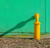 Yellow gas pipes Stock Image