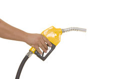 Yellow gas pump Royalty Free Stock Photography