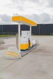 Yellow gas station Stock Photos