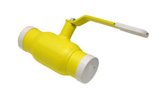 Yellow gas valve Royalty Free Stock Photography