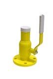 Yellow gas valve Royalty Free Stock Photo