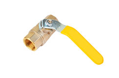 Yellow gas valve Stock Images